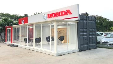 Recycled Container Honda Showroom
