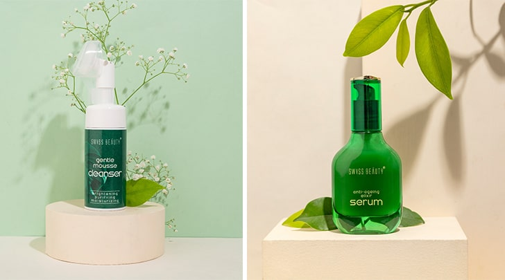 Swiss beauty skincare products